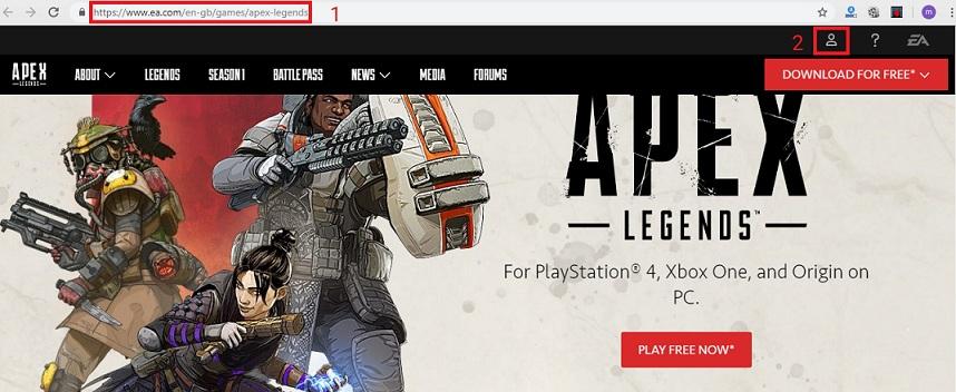ساخت اکانت بازی apex legends
