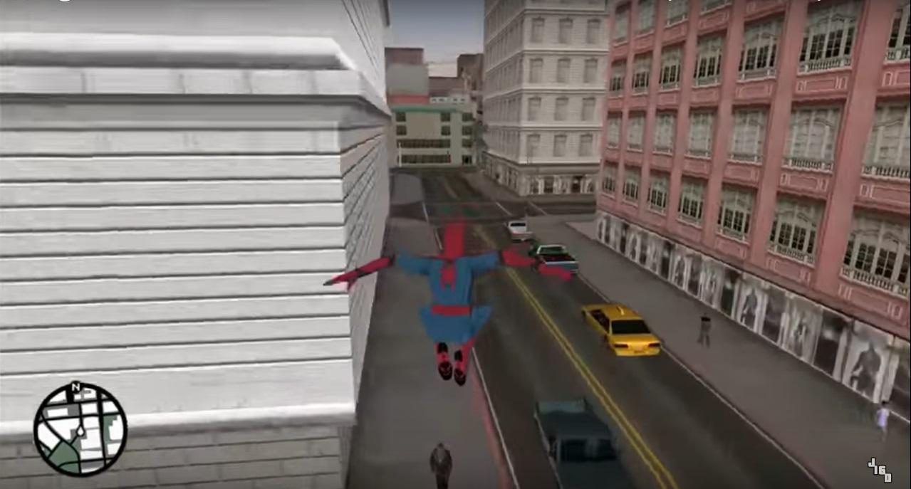 مرد عنکبوتی در بازی GTA San Andreas