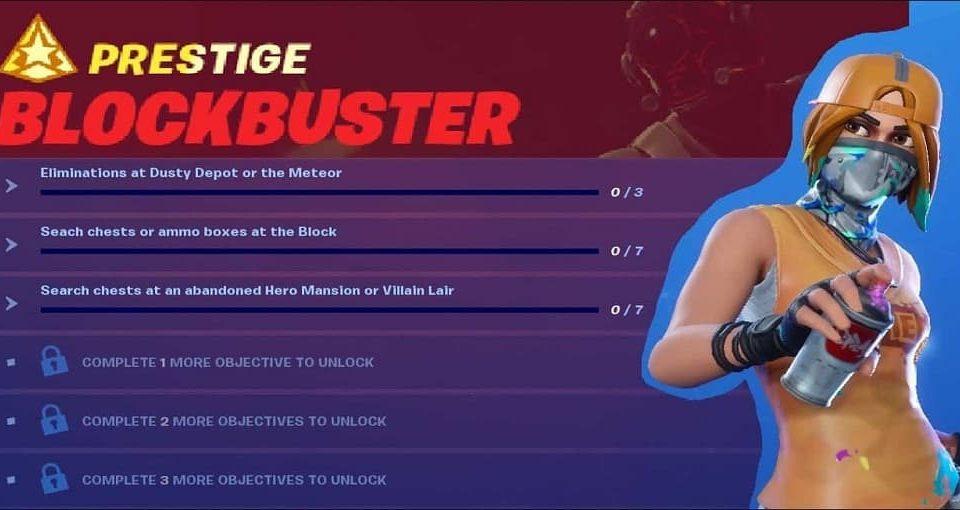 چلنج فورتنایت Blockbuster Prestige