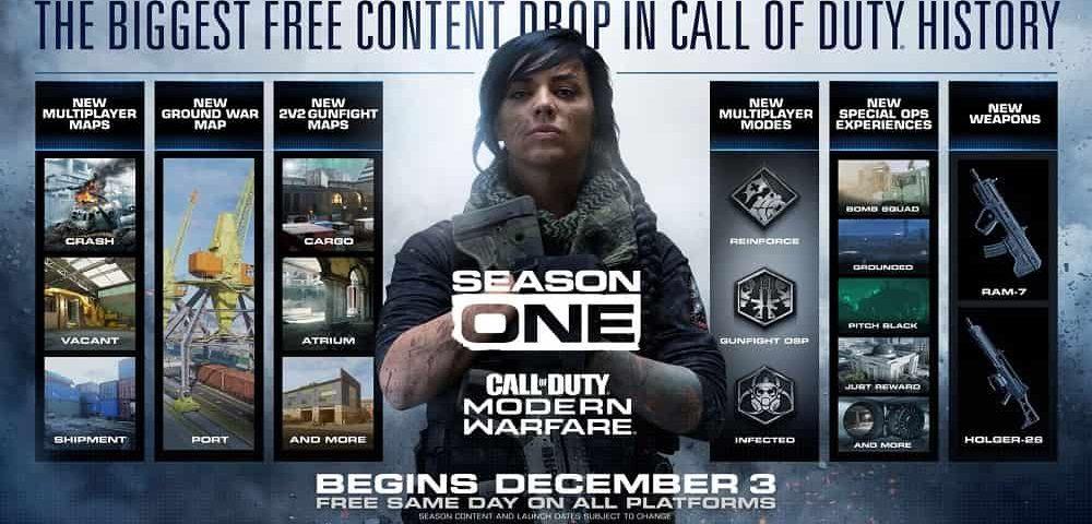 تاریخ انتشار فصل 1 Call of Duty: Modern Warfare
