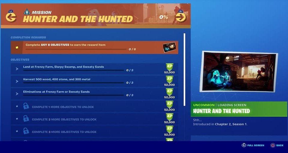 چلنج فورتنایت Hunter And the Hunted