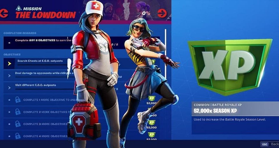 چلنج فورتنایت The Lowdown