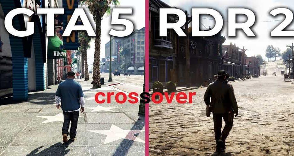 کراس اور RED DEََAD Online و GTA Online