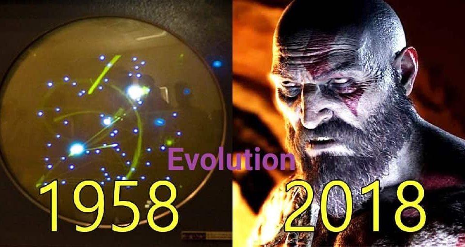 تکامل گرافیک بازی های ویدئویی از 1958تا2018