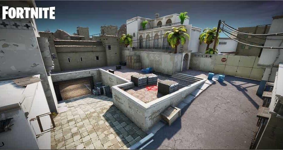بازسازی نقشه Dust 2 کانتر برای بازی فورتنایت