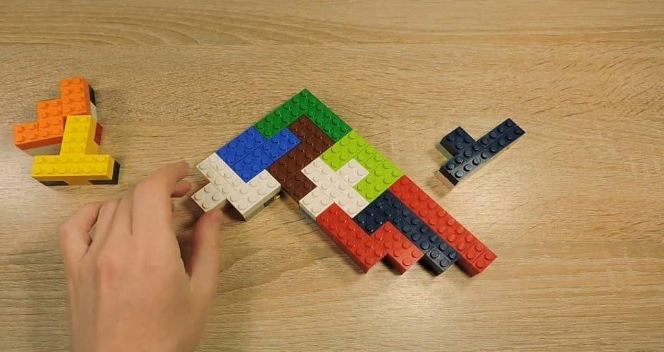 بازی ریاضی پازل های پنج تکه ای