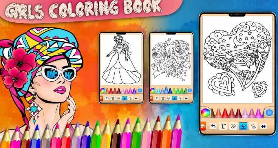 بازی دخترانه رنگ آمیزی و نقاشی