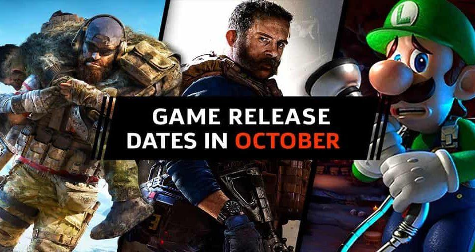 تاریخ انتشار بازی های اکتبر ۲۰۱۹